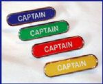 CAPTAIN - BAR Lapel Badge